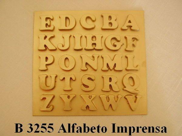 Forma de Silicone de Alfabetos e Números